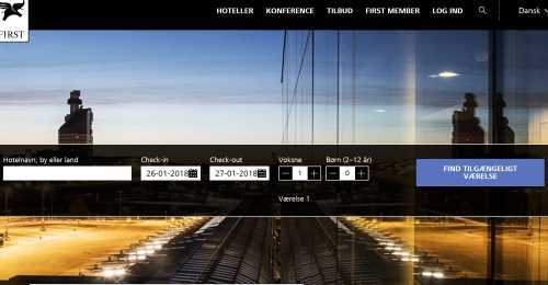 Screenshot First Hotels
