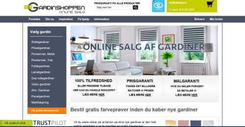 Screenshot Gardinshoppen