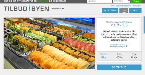 Screenshot TilbudiByen