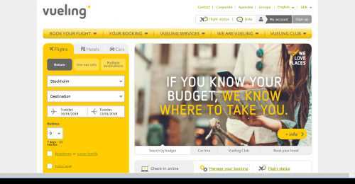 Screenshot Vueling