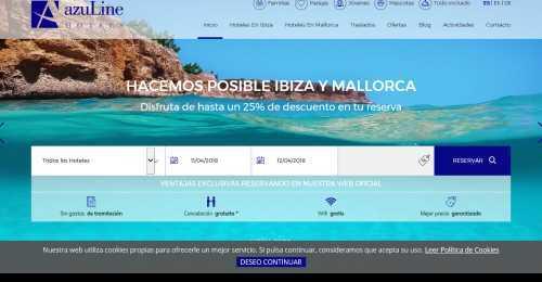 Screenshot Azuline Hotels