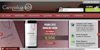 Screenshot Campoluz Enoteca