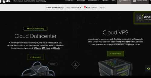Screenshot Gigas Hosting