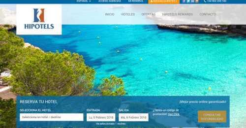 Screenshot HIPOTELS Hotels & Resorts