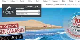 Screenshot Lopesan Hoteles