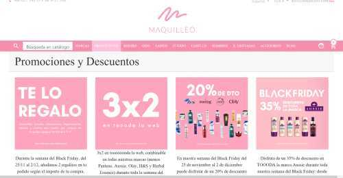 Screenshot Maquilleo