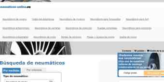 Screenshot Neumaticos-online
