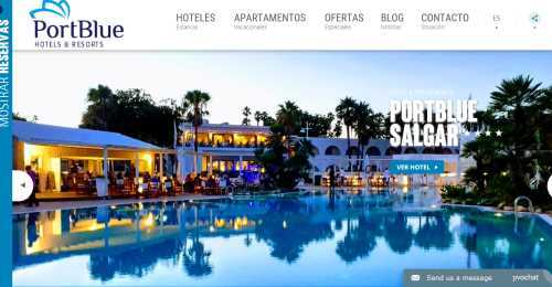 Screenshot PortBlue Hotel & Resorts