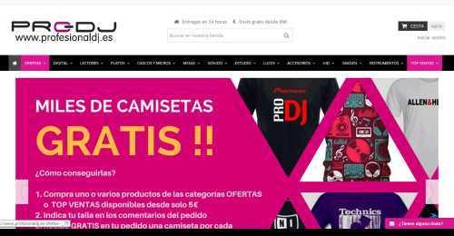Screenshot Profesionaldj.es