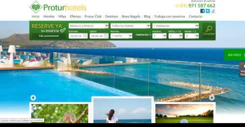 Screenshot Protur Hotels