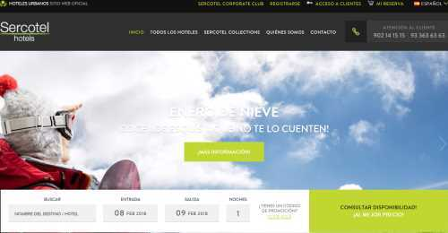 Screenshot Sercotel Hotels