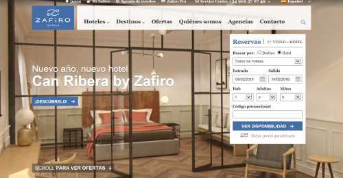 Screenshot Zafiro Hotels