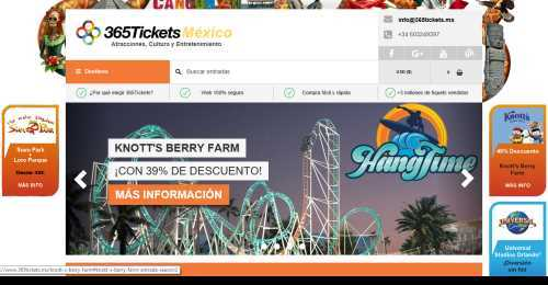 Screenshot 365Tickets MX