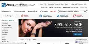 Screenshot AuthenticWatches