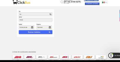 Screenshot ClickBus