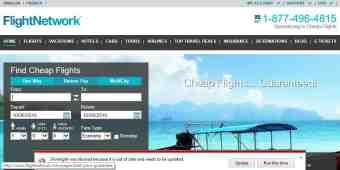 Screenshot FlightNetwork