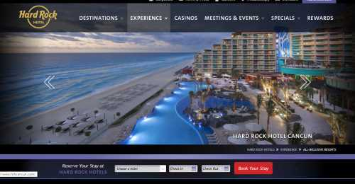 Screenshot Hard Rock Hotels