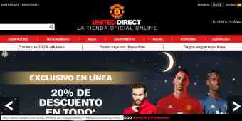 Screenshot Manchester United Direct