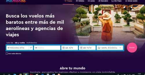 Screenshot Momondo