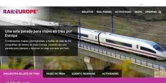 Screenshot Rail Europe