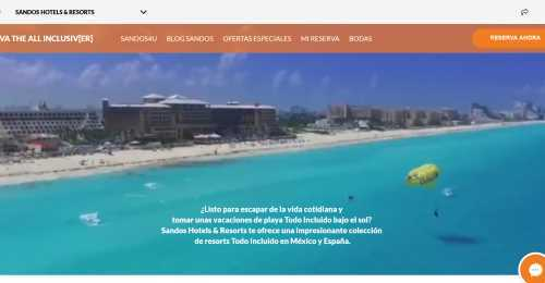 Screenshot Sandos Hotels & Resorts