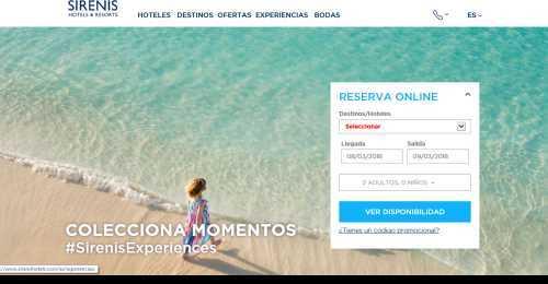 Screenshot Sirenis Hotels