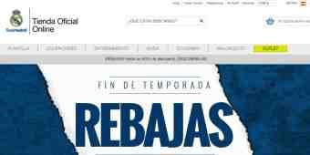 Screenshot Tienda Real Madrid