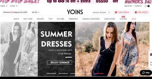 Screenshot Yoins