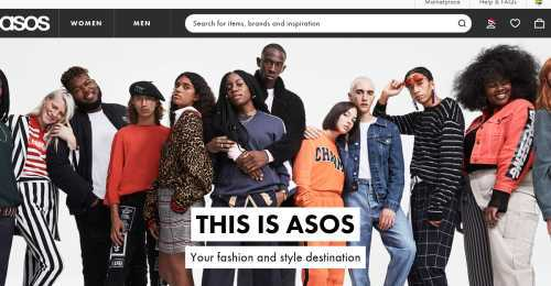 Screenshot Asos