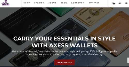 Screenshot Axess Wallets
