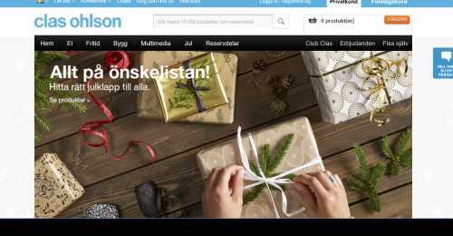 Screenshot Clas Ohlson