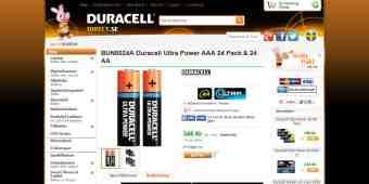 Screenshot Duracell Direct
