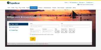 Screenshot Expedia
