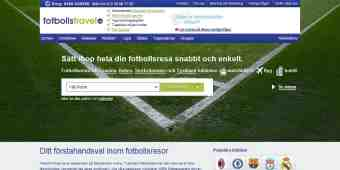 Screenshot FotbollsTravel