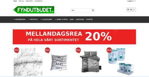 Screenshot Fyndutbudet