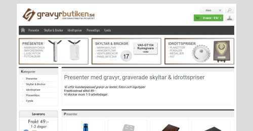 Screenshot GravyrButiken