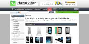 Screenshot iPhoneButiken