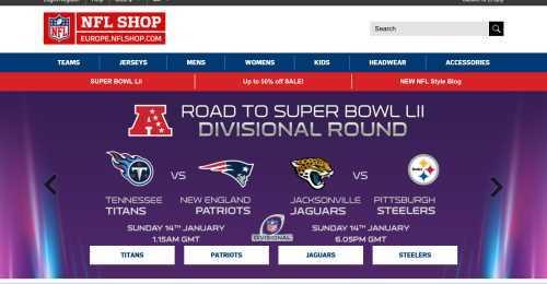Screenshot NFL Shop