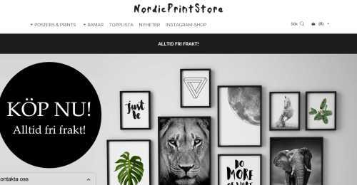 Screenshot NordicPrintStore