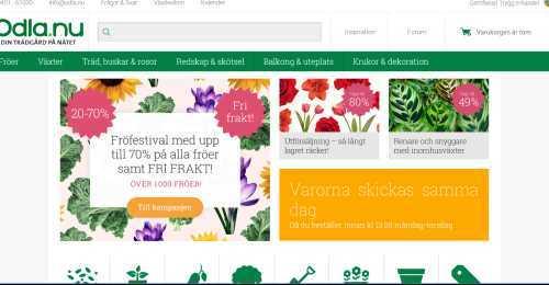Screenshot Odla.nu