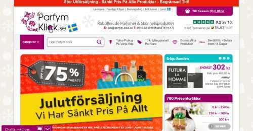 Screenshot Parfym-Klick