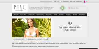 Screenshot PHAX Swimwear