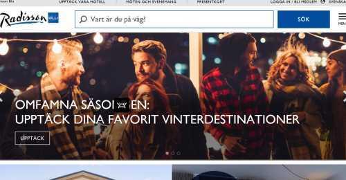 Screenshot Radisson Blu