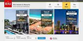 Screenshot RIU Hotels