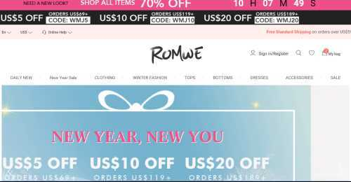 Screenshot ROMWE
