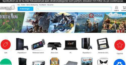 Screenshot Spelbutiken