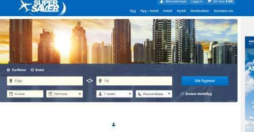 Screenshot Supersavertravel