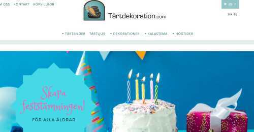 Screenshot Tårtdekoration.com