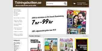 Screenshot Tidningsbutiken