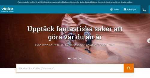 Screenshot Viator